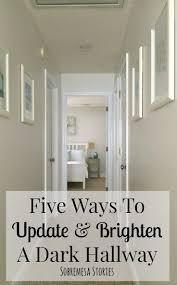 five ways to update and brighten a dark hallway