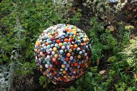Decorating Bowling Balls Marbles Simple Bowling Ball Yard Decoration My Next Project For My Garden I Just
