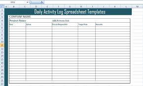 Employee Daily Activity Log Get Daily Activity Log Spreadsheet Templates Free Excel
