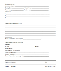 Free Employee Termination Form