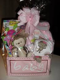 Baby Girl Gift Basket - cellophane wrapped | Gifts \u0026 Gift Baskets ...