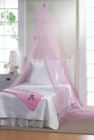 Bed Canopy For Girls, Mosquito Netting Canopy Princess Pink Butterfly Bed Canopy