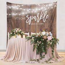 Love Wedding Decorations Custom Wedding Tapestries For Dessert Backdrops And Photo Booths