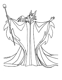 Small Picture Maleficent coloring pages with the magic wand ColoringStar