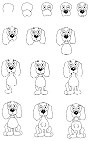 cute dogs drawings step by step. Wonderful Dogs How To Draw Dogs  Drawing Tutorials Inside Cute Drawings Step By R