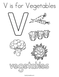 Small Picture Letter V Coloring Pages Twisty Noodle