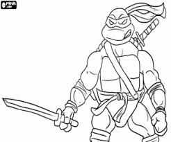 Small Picture Ninja Turtles coloring pages printable games