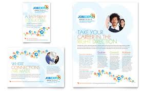 Job Expo & Career Fair Flyer & Ad Template - Word & Publisher