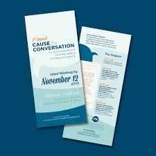 Business Poster Design Blue Cause For Conversation Nonprofit Event Flyer Idea