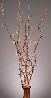Battery Operated Natural Brown Twig Branch 50 LED 39 Inch