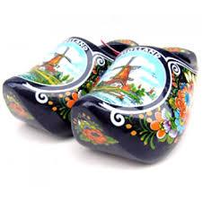 wooden shoes holland windmill flowers blue 14 cm souvenir clogs holland souvenirs