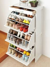 Keep your shoes organized and save floor space by storing your shoes in  this shoe cabinet. It has a slender profile, versatile white finish, ...