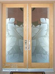 glass entry doors example of a mid sized island style ceramic floor entryway design in other with beige full glass entry door with sidelights