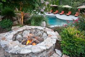 wood burning patio fire pits. Wood Burning Fire Pit Landscape Traditional With Backyard Brick Patio Chaise. Image By: Fine Decks Inc Pits