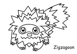 Kleurennu Pokemon Zigzagoon Kleurplaten