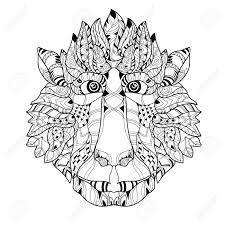 Doodle De La Cabeza Del Mono Dibujado A Mano Ilustraci N Vectorial