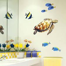 sea turtle wall decal sea turtle and reef fish wall decal set sea turtle wall decals