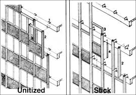 unitized vs stick curtainwalls