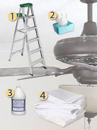 things you need to clean your ceiling fans ladder tissues cleaner and