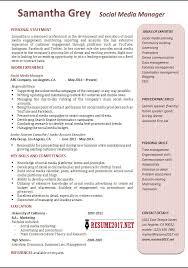 Sample Social Media Resume Social Media Manager Resume Examples 100 55