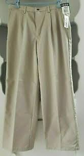 Izod School Uniform Twill Pleated Pants Boys 16 Husky Blue
