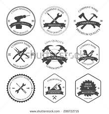 woodworking tools logo. vintage carpentry tools labels and design elements illustration woodworking logo n