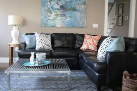 leather sectional living room furniture. Full Size Of Living Room:how To Decorate A Room With Black Leather Sectional Furniture