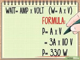 Hz To Watts Conversion Chart How To Calculate Wattage Formula And Tools Wikihow