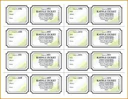 Draw Tickets Template Blank Raffle Ticket Paper Piazzola Co