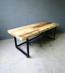 custom office desks. Contemporary Desks Industrial Chic Reclaimed Custom Office Desk Table On Wheels Folding  Tables With Intended Custom Office Desks