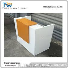 office reception table. Unique Reception Small White And Orange Artificial Marble Office Reception Table Tops  Acrylic Solid Surface Front Tops Design Furniture Oem Service Intended
