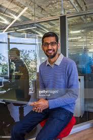 google inc office. Sundar Pichai, CEO Of Google Inc., In His Office At Headquarters Inc