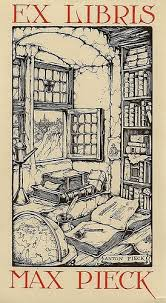 open window open book and wood engraving