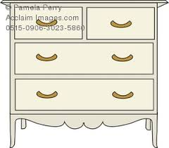 dresser clipart black and white. clip art illustration of a chest drawers. dresser clipart black and white