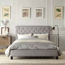 Small Double Bedroom Buy Charlotte Small Double 4ft Grey Fabric Low End Bed Frame At