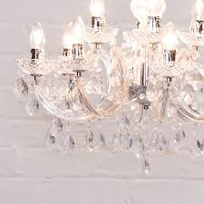multi arm 12 way marie therese chandelier dual mount pendant in chrome litecraft