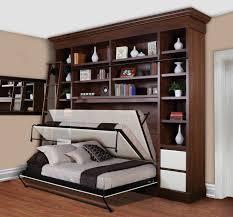 Smart Bedroom Furniture Bedroom Modern Murphy Bed Hardawer And Modern Compact Shelves