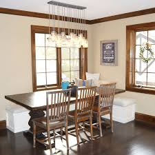 creative diy mason jar light chandelier for metro farmhouse dining room with wooden table top and