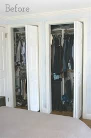 bedroom closet door curtains ideas replacing bi fold closet doors with curtains our closet
