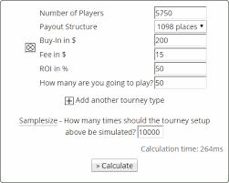 tournament variance calculator primedope