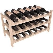 wine rack. Wine Racks America Ponderosa Pine 18 Bottle Stackable. 13 Stains To Choose From! Rack S