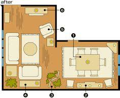 dining room furniture layout. Brilliant Dining Room Arrangements For Awkward Spaces Intended Dining Furniture Layout
