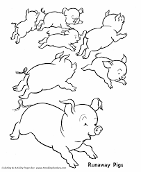 Small Picture Farm Animal Coloring Pages Printable Wild Runaway Pigs Coloring