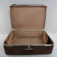 luggage by us vintage brown leather suitcase