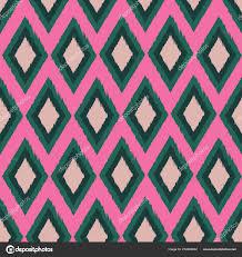 Repeats In Textile Designing Diamond Ikat Seamless Repeat Pattern Design Stock Vector