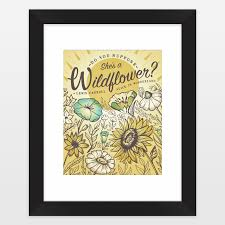 Alice In Wonderland Quote Extraordinary Wildflower Alice In Wonderland Quote With Vintage Look Framed Art