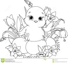 Cute Baby Chick Coloring Pages Cute Baby Chick Coloring Pages