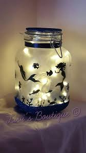 lighting in a jar. Stunning Large Made To Order Mermaid In A Jar Mood Light / Night Light, Come Lighting Y