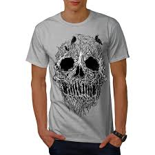 T Shirt Design For Burial Details About Wellcoda Tree Skull Horror Mens T Shirt Burial Graphic Design Printed Tee