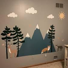 camping wall decals nursery wall decor